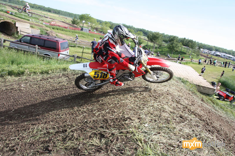 Derek Ouimet was hauling mail on a stock CRF250. He grabbed 2nd overall in ProAm.
