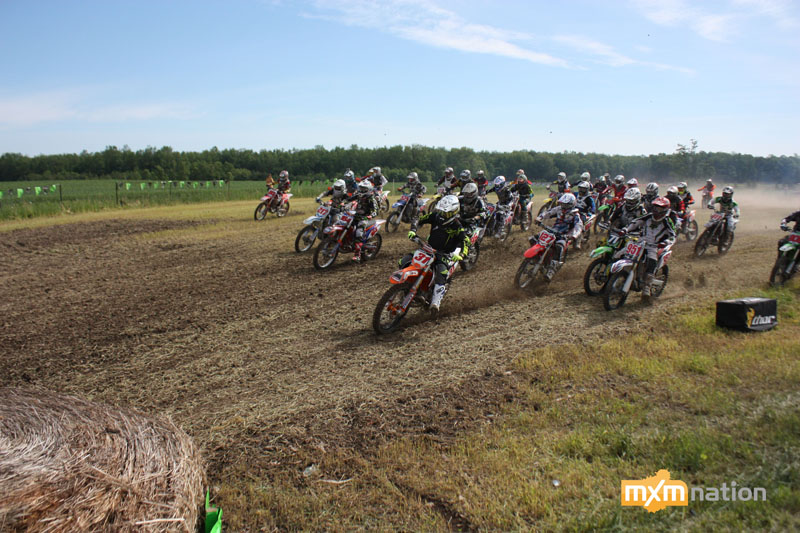 I swear this kid gets every holeshot! Alex Jeffrey #31 rockets off the line in MX1 Junior.
