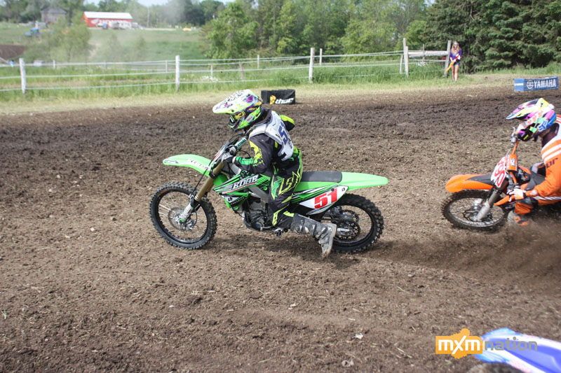 Blake Koopmans grabbed a holeshot in an MX2 Junior qualifier and checked out. Good experience for the young racer.