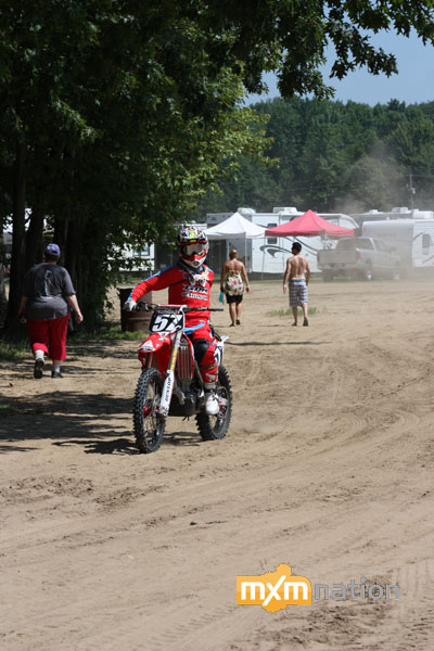 I haven't seen Blake Savage race since Walton last year. He looked really good on his GDR/TLD Honda. Blake had a bad crash and took a DNF in moto 1. Second moto was better with a 10th for 15th overall on the day. Look for Savage to get better and better at each round.